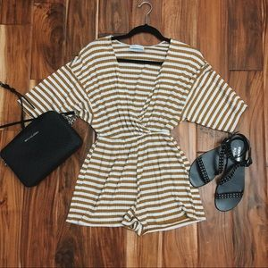 Urban Outfitters Striped Romper 🧡
